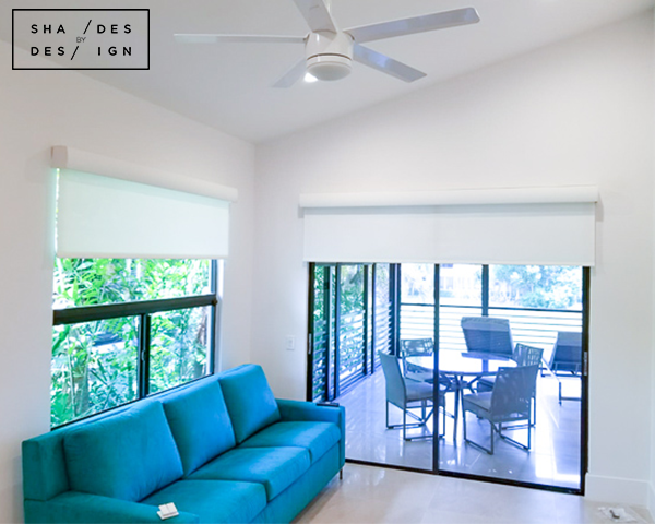 Lutron Battery Operated Shades- Boca Raton- Livingroom shades