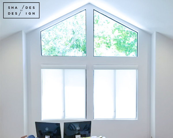 Lutron Battery Operated Shaded- Home office window treatments