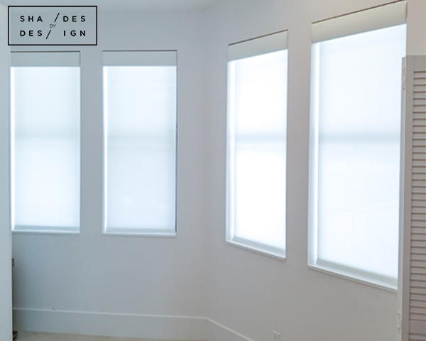 Motorized screen shades- Lutron Battery Shades - Boca Shades
