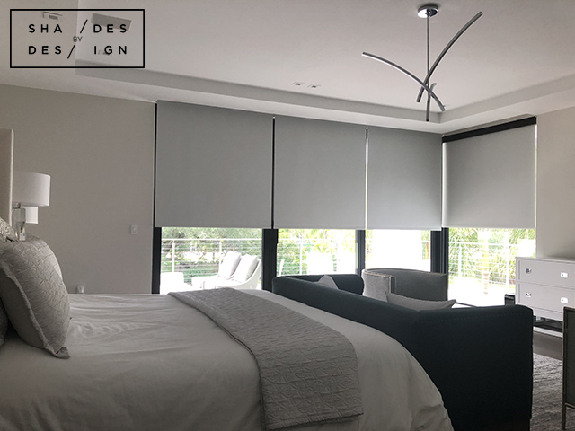master bedroom somfy Blackout shades