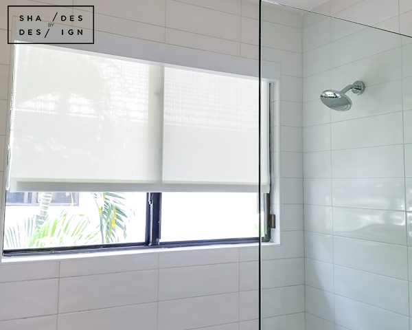 Bathroom Shades- Motorized Shades- Shower Shades