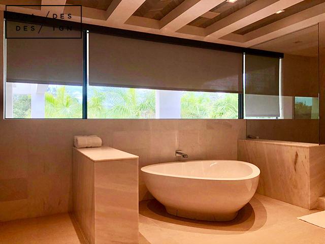 Master Bath -motorized Screen Shades