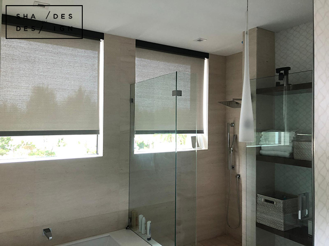 Bathroom - Solar Shades