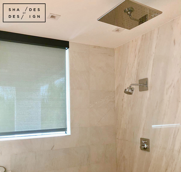 Master Bath-Shower motorized shades