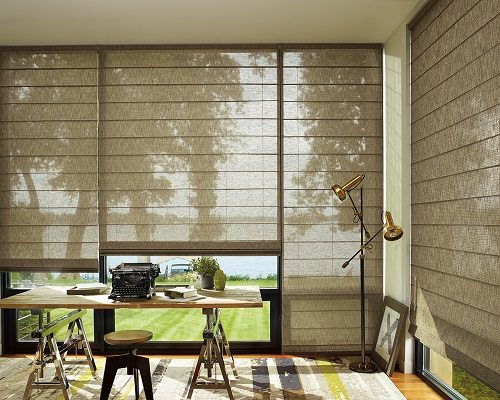 sheer woven wood shade