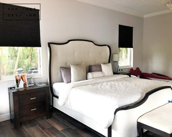 Graber Cellular Shades Bedroom - Blackout Honeycomb Shades