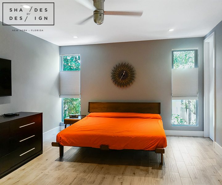 motorized shades bedroom miami
