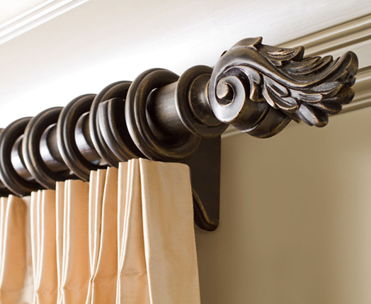 Hardware window treatments