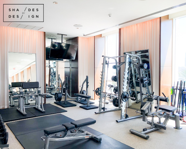 Icon Brickell- Gym and Spa drapes
