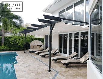 Infinity Canpoy Outdoor pool Miami