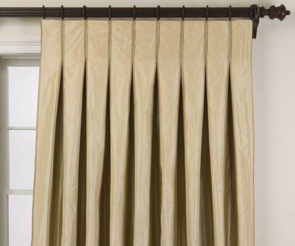 Inverted Pleat Drapes