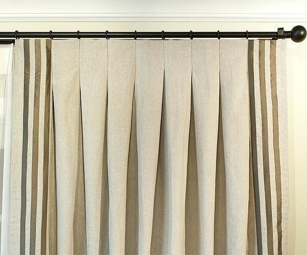 Inverted Pleat window treatments