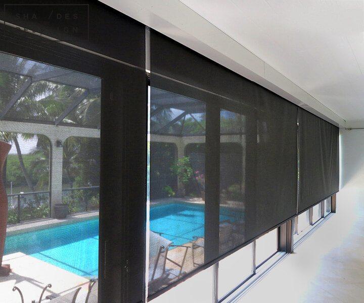 Lutron shades pool