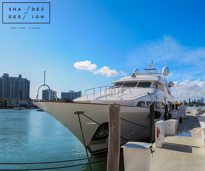 Roller Shades Yacht Miami