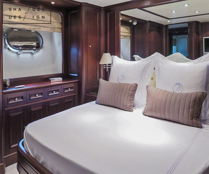 Bedroom shades yacht