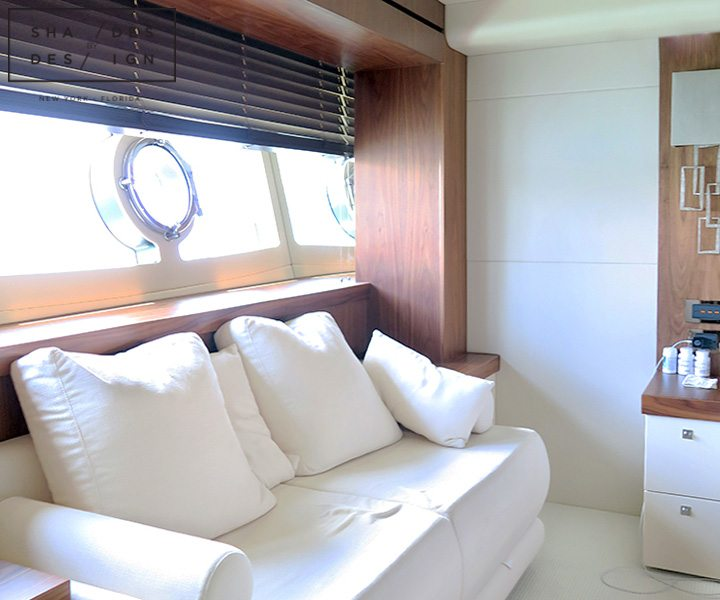 Window treatments for yacht
