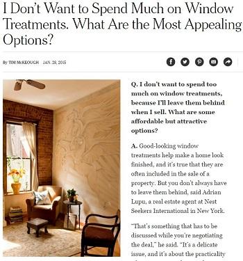 NY times shades by design - window treatments