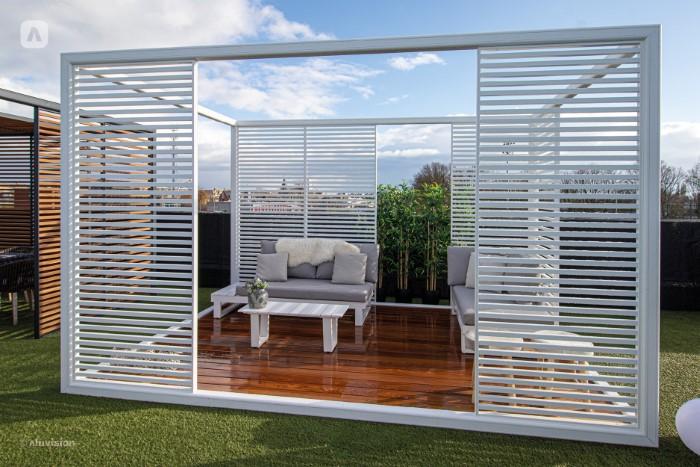Aluvision window shades florida
