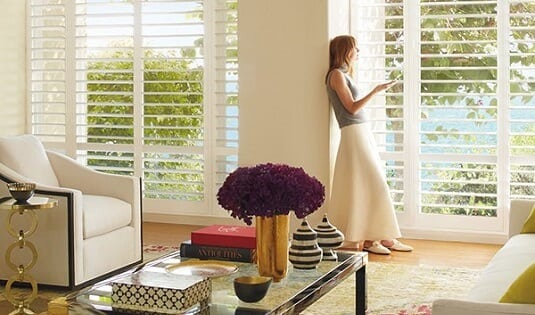 Polysatin motorized shutters