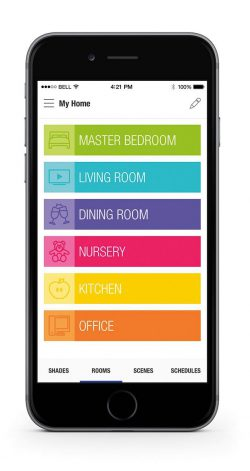 Somfy App Motorized Window Treatments