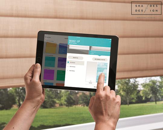window treatments ipad control