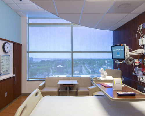 Window treatments for hospital