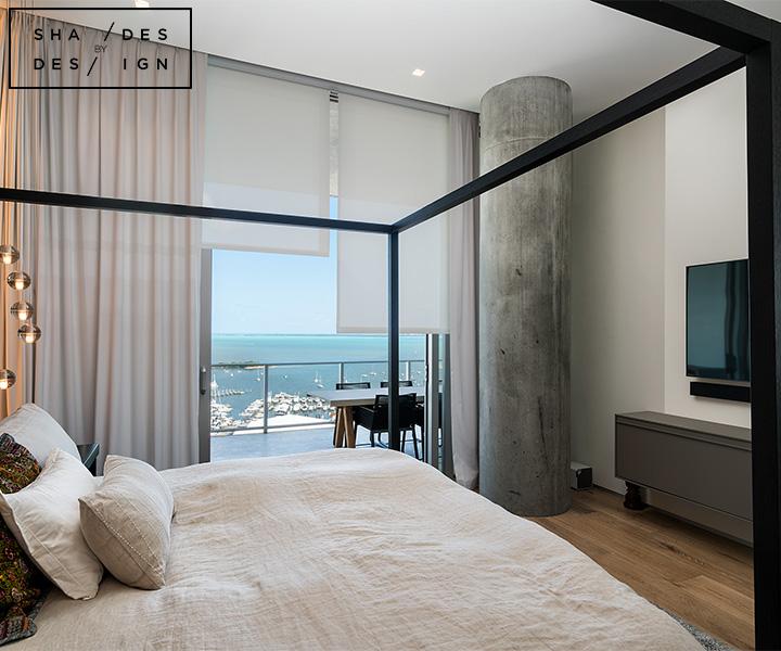 motorized solar shades for bedroom